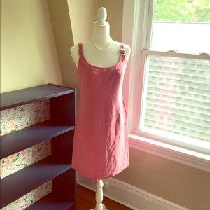 Jones New York Pink Silk/Linen Sundress